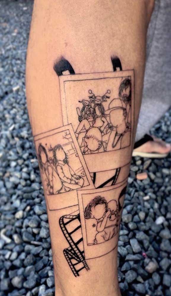 Fotos e mais fotos tatuadas no braço