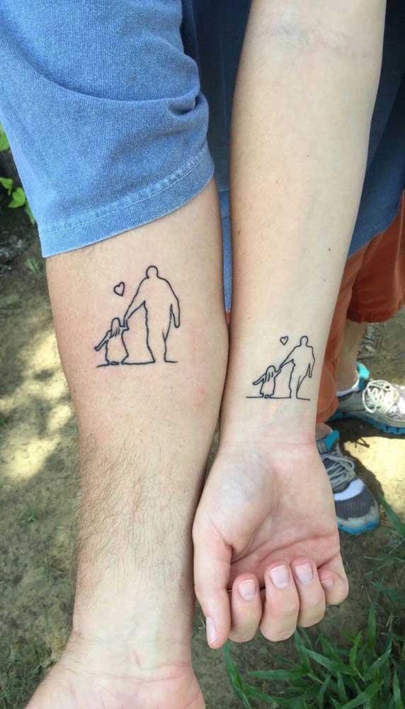 Tatuagem para pai e filho fazer junto