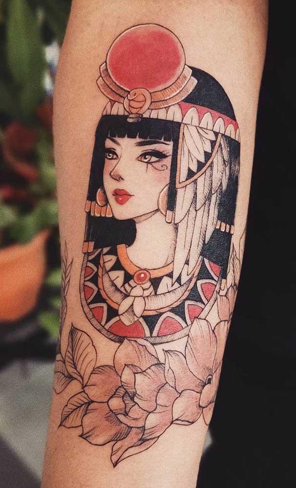 Tatuagem de Cleópatra em sua mais bela versão