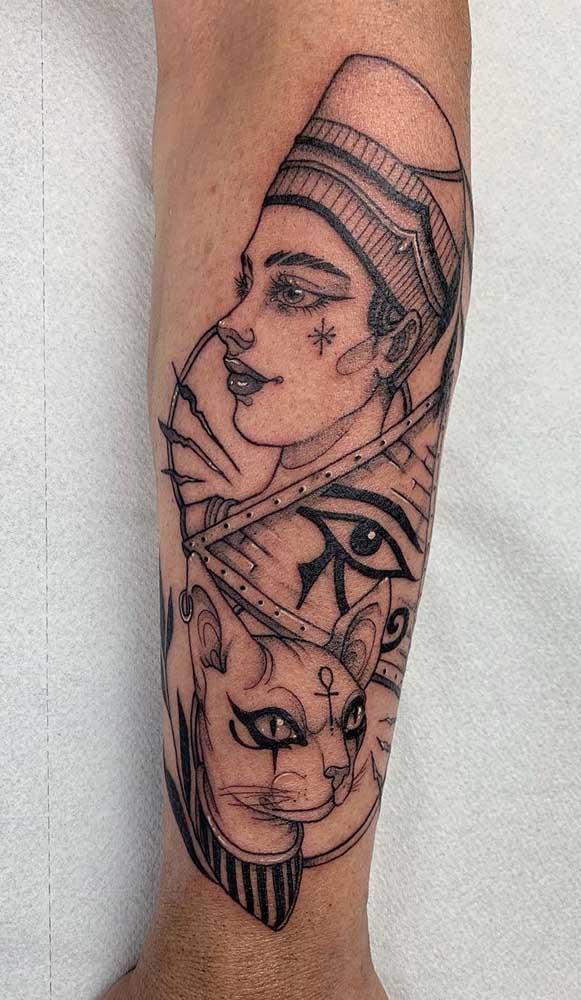 Deuses e homens em uma mesma tatuagem