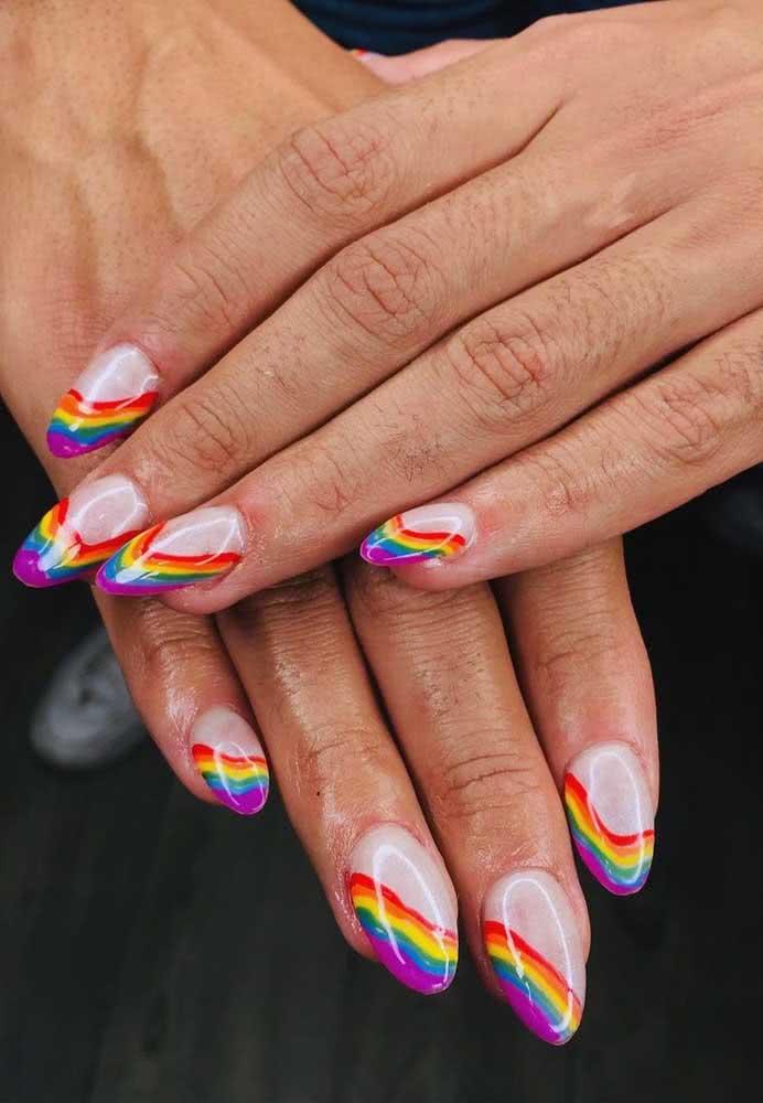Tenha um arco-íris nas pontas dos dedos, literalmente!